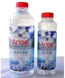 Artesian natural springwater, mineral water