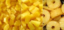 Canned pineapple chunks in light syrup