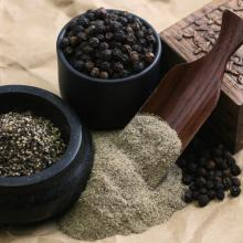 Export natural quality dehydrated black pepper to America