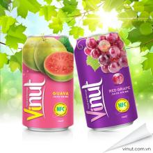 330ml Canned Natural Grape Fruit Drink
