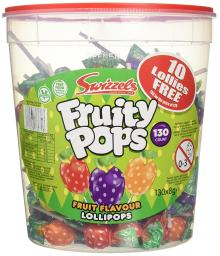Swizzels Matlow Fruity Pops Lollies Original (130x8g)