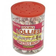 Swizzels Matlow Double Lollies Lollipops Tub Full
