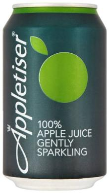 Appletiser 100% Apple Juice Gently Sparkling in Can 330 Ml (Pack of 24)