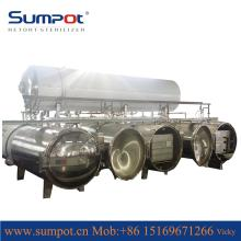 High temperature and pressure preheating water immersion retort sterilizer for high output