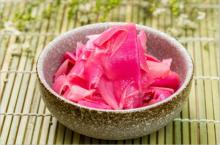 Wholesale tasty pickled pink sushi ginger for Japanese sushi