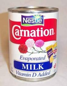Nestle Liquid Evaporated Milk.