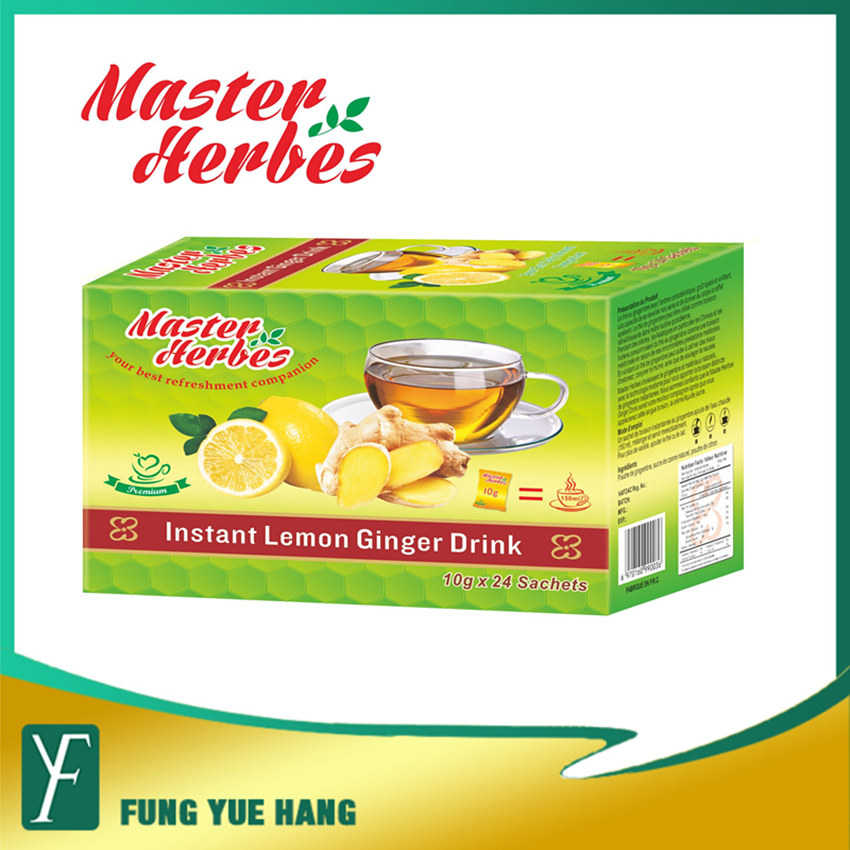 Instant Lemon Flavor Herbal Ginger Tea