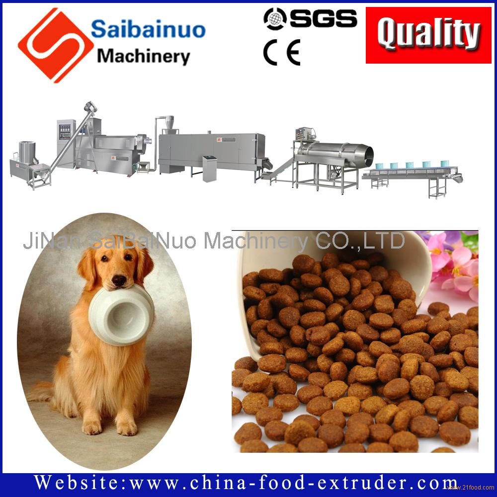 Automatic pet food processing machine