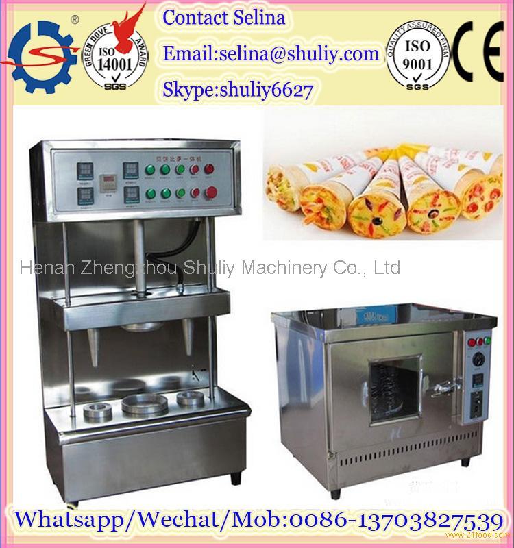 bread bakery equipment/pizza cone making machine/pizza cone box