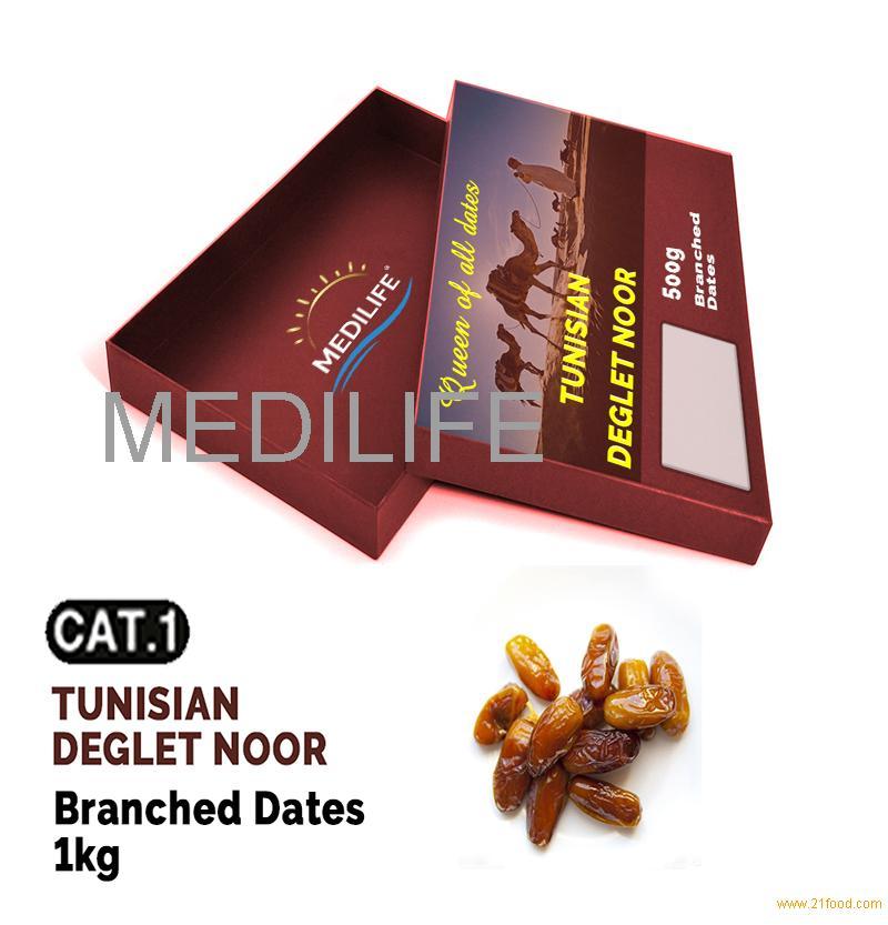 Branched Dates Deglet Noor,Fresh Dates Fruit, 1 Kg