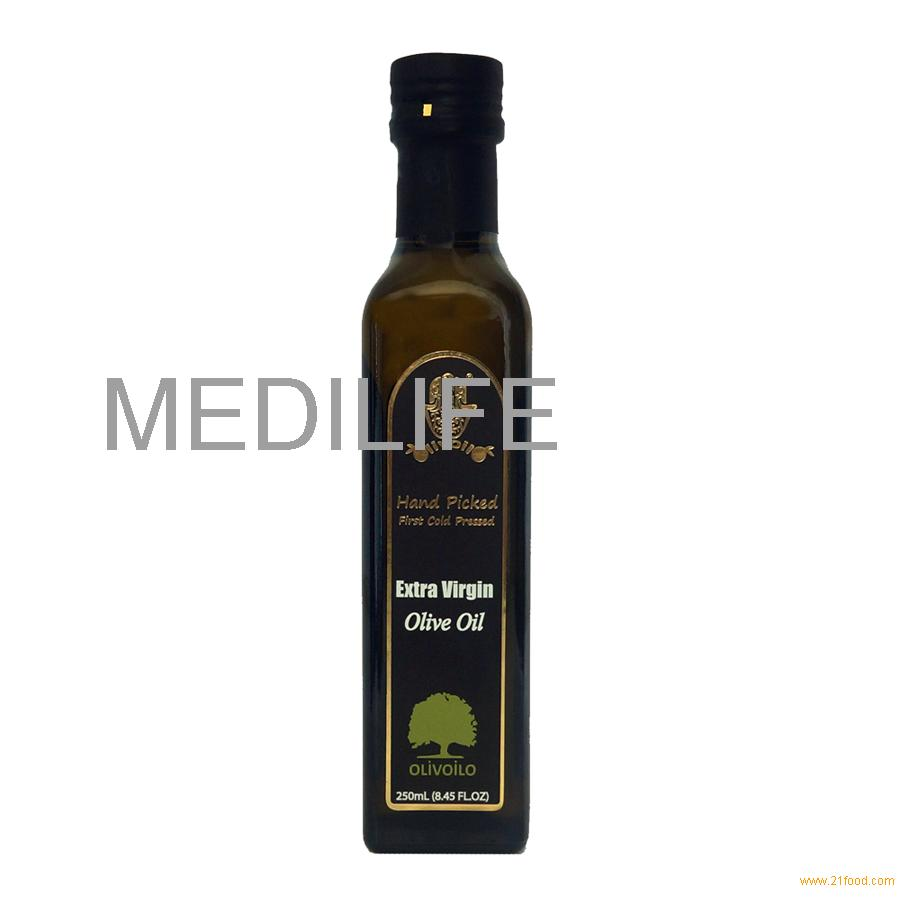 Marasca glass bottle olive oil.Bitter and pungent taste 250mL, 0.5% Acidity