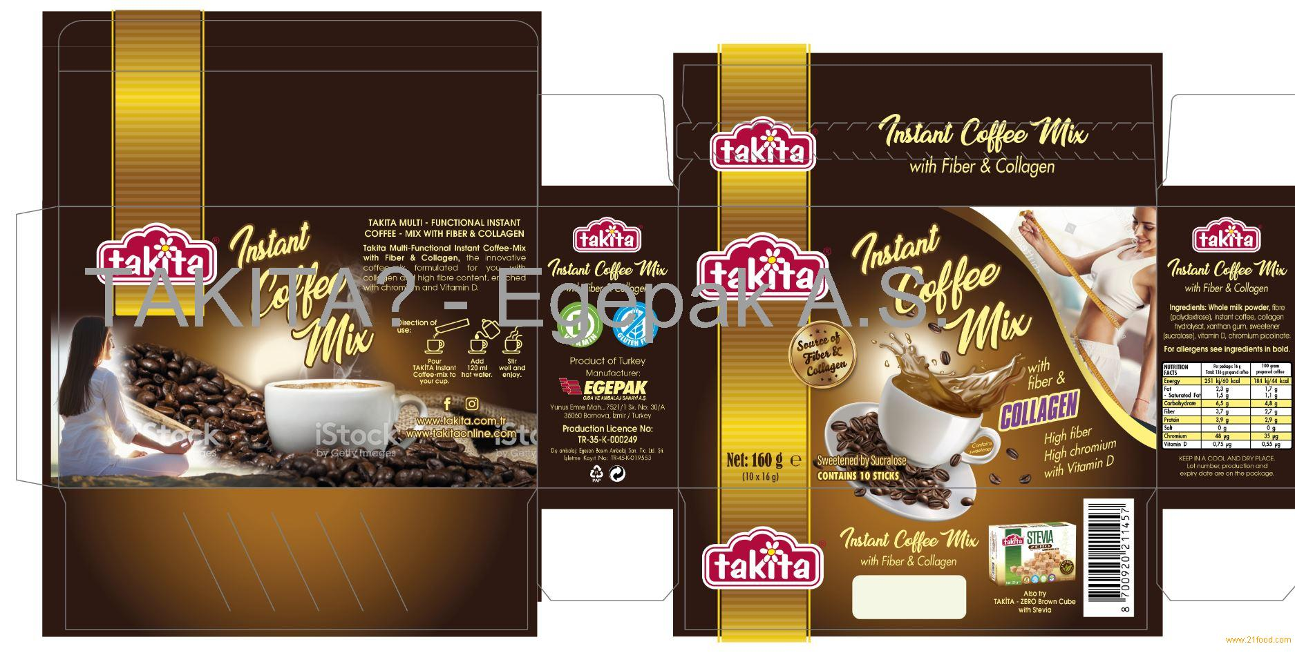 Instant Sugar free Colagen & Chrome added Coffee
