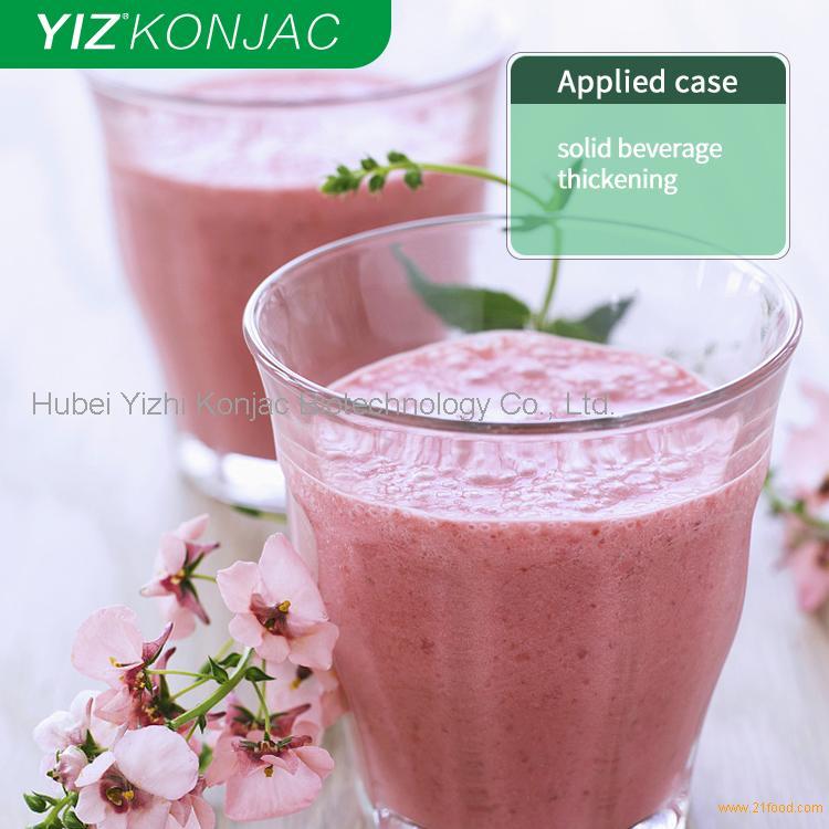 Konjac gum used in beverage and dairy.