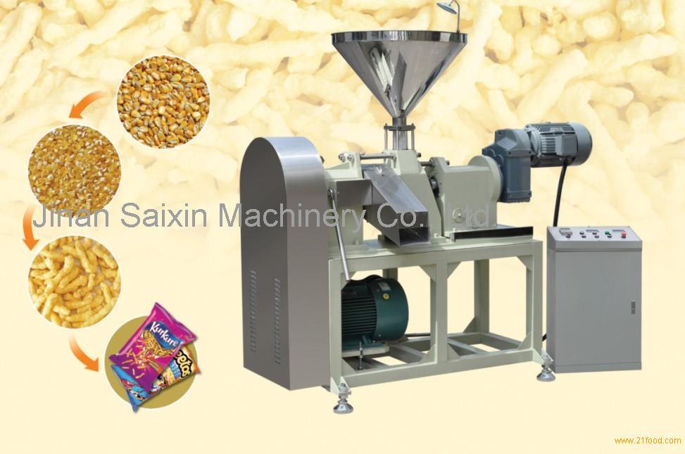 Fried nik nak corn curl kurkure snack food making cheetos machine