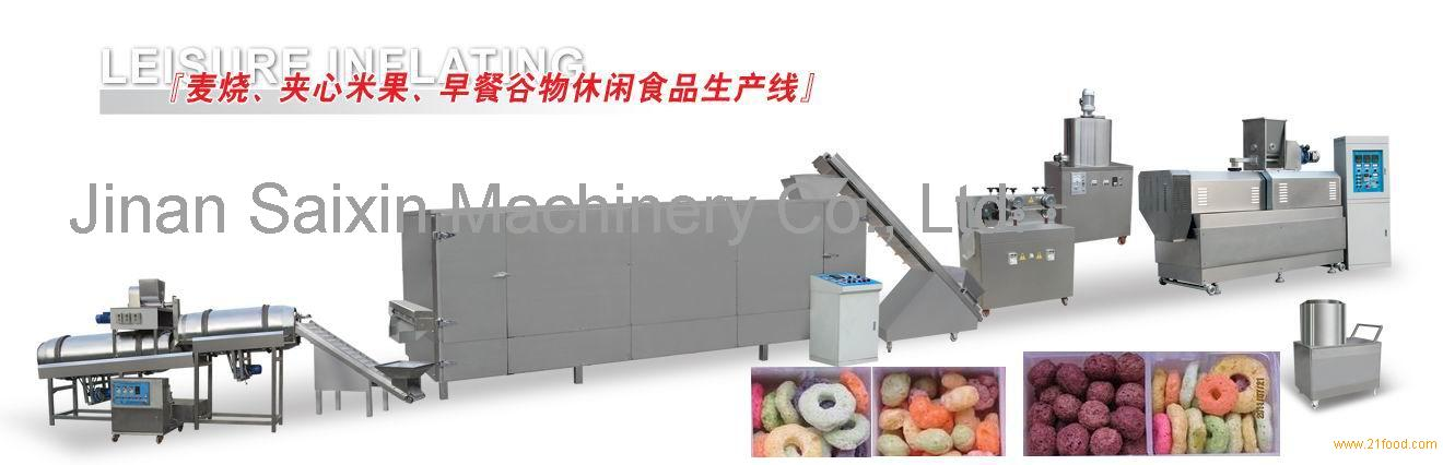 core filled snack food machine, corn filled snack machine, snack production line