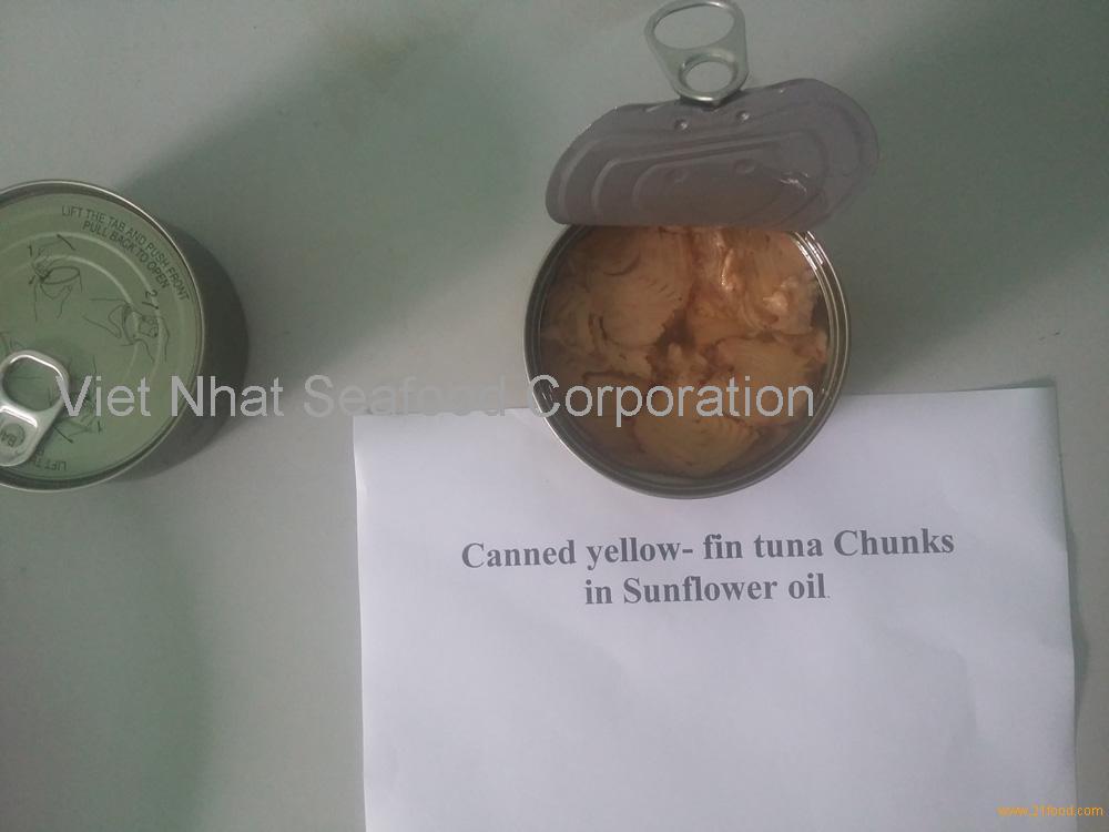 Canned Yellowfin tuna in oil