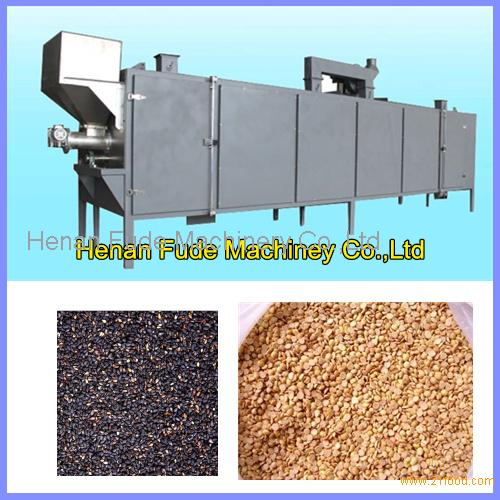 High quality big capacity continuous drum type sesame roaster, peanut broad beans roasting machine,