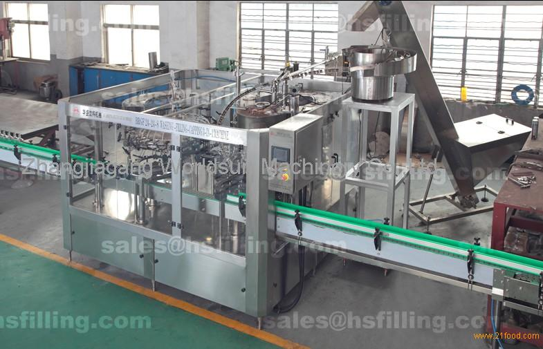 PLC Liquid Bottle Filling Machine , Liquor Bottle Washing Filling Capping Machine