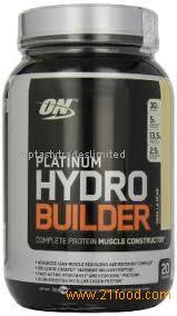 FOR SALE !!! Optimum Nutrition Platinum Hydrobuilder Vanilla