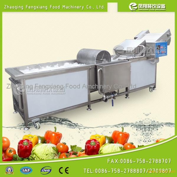 WA-2000 lettuce, spinach, cabbage washing cleaning machine with air bubble and high pressure water
