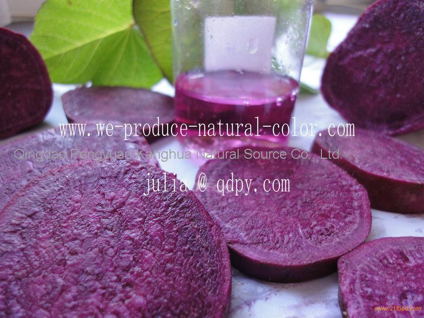 we produce purple sweet potato red colorant