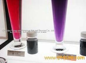 Chinese manufactuere Food additive E163 anthocyanin natural color purple sweet potato red colorant