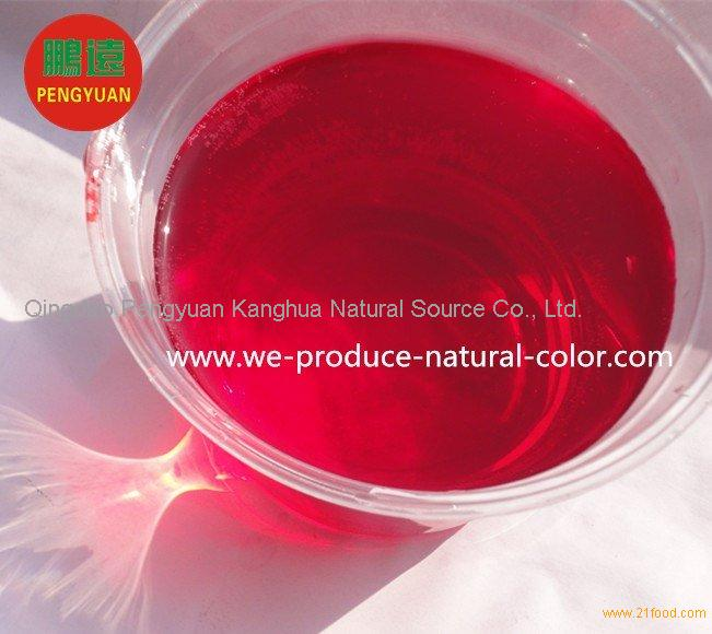 red beet root liquid or powder colorant