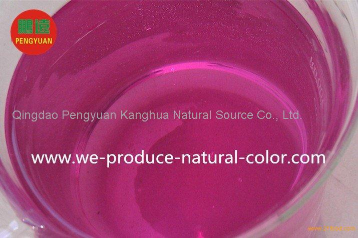 drinks and milky tea using colorant cabbage red