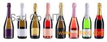 Non Alcoholic Sparkling Fruit Nectar Juice Drink in Champagne Bottle