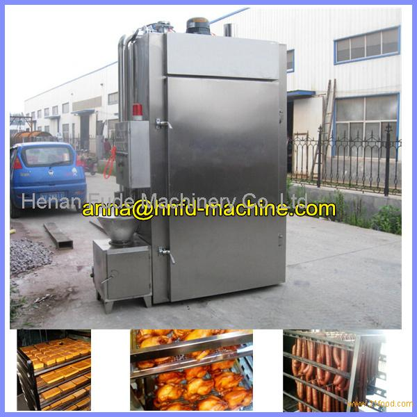 Commercial sausage meat smoke house, roast chicken smoke house