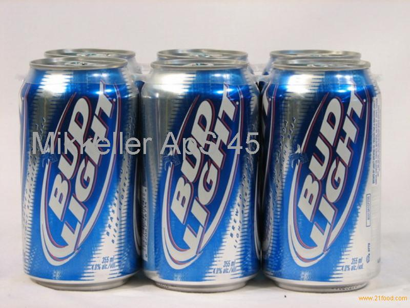 Canned Bud Light beer
