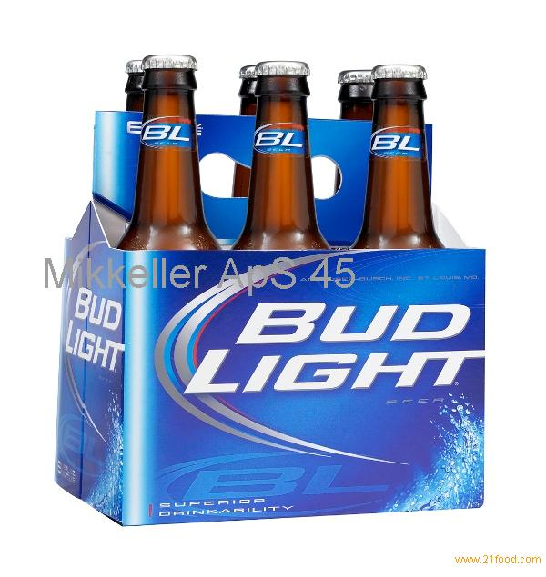 Availablle Packed Bud Light beer