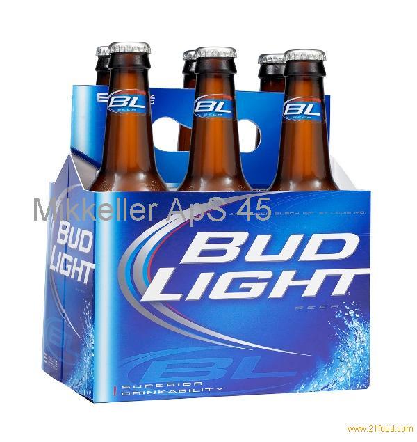 Packed Bud Light beer