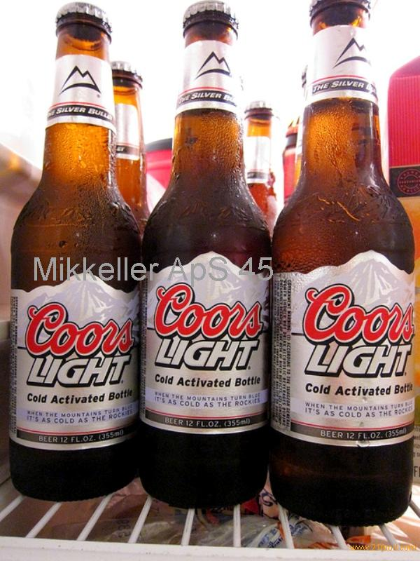 Cold Coors Light beer