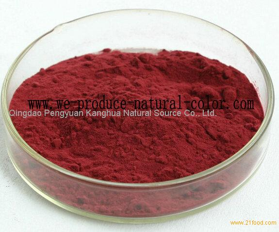 confectionery using colorant radish red