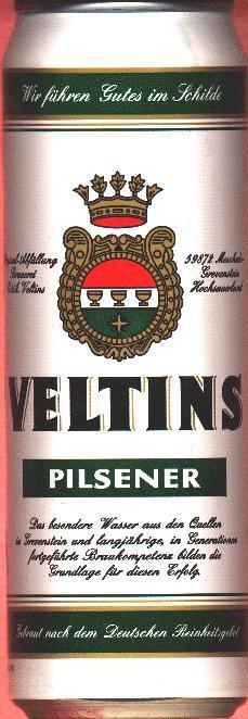 Veltins Beer 500ml Can.