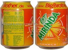 Mirinda Orange Soft Drink 330ml Can