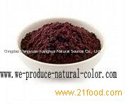 beverage using colorant purple corn color