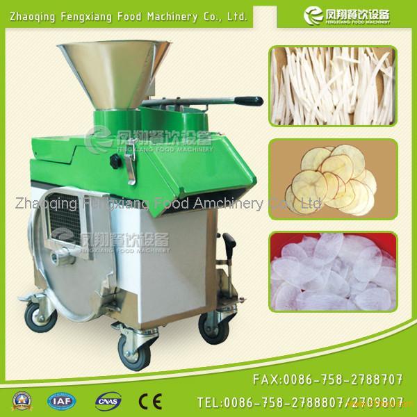 Horizontal type vegetable cutting machine