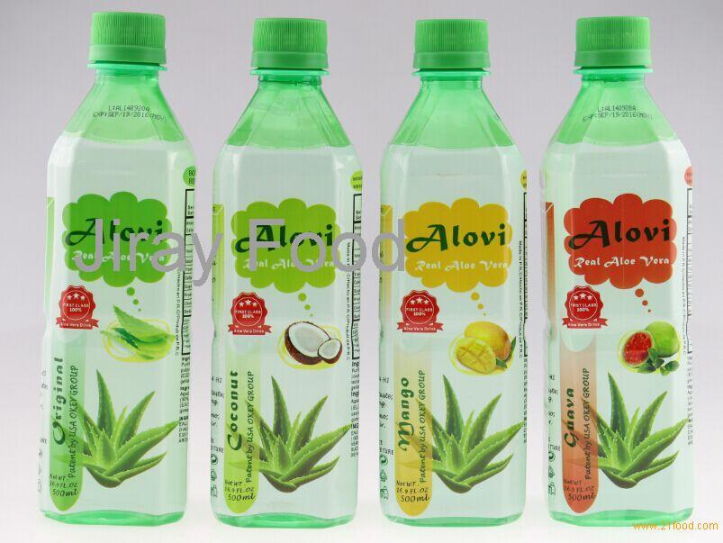 500ml different flavors aloe vera drinks