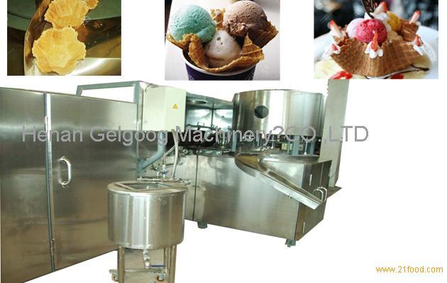 crisp bowl shape ice cream cup machine|ice cream cone baking machine
