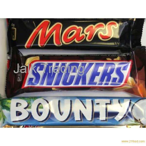 BOUNTY - SNICKERS - MARS - TWIX CHOCOLATES