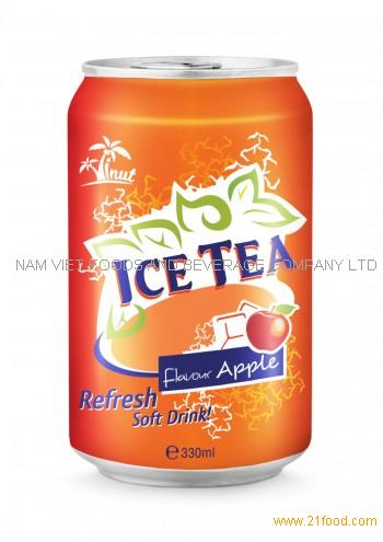 330ml Ice Tea Flavour Apple Refresh Soft Drink