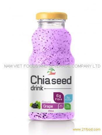 280ml Chia Seed Drink Grape Flavor