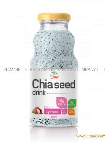 250ml Chia Seed Drink Lychee Flavor