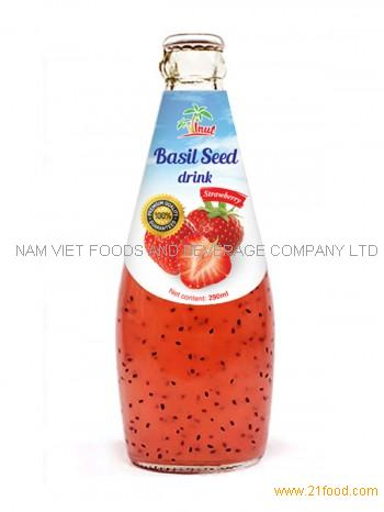 Basil Seed Drink Strawberry 290ml