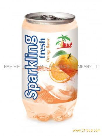 350ml Sparkling Fresh Orange Flavour