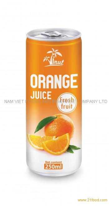 250ml Orange Juice Fresh Fruit
