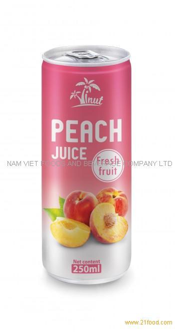 250ml Peach Juice Fresh Fruit
