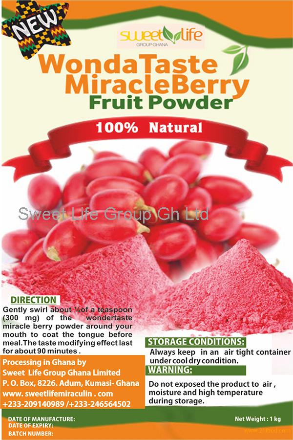 Premise Indicator Words: Freeze Dried Pure Miracle Berry Fruit From Ghana Selling